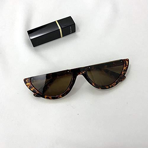 CYCY Brillen Europe and America Sonnenbrillen mit halbem Rahmen High Street Retro Sonnenbrillen Damen Tide Street Sonnenbrillen Herren White Frame Schwarz, Amber Black