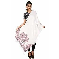 Stylezee Viscose Jamawar Self Design Womens Shawl