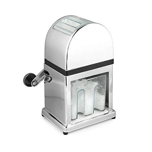 BSJZ Eiscrusher Maschine mit Eisschaufel manueller Ice Crusher Metall Eiszerkleinerer können Sie schnell und einfach Ihre Eiswürfel zerkleinern