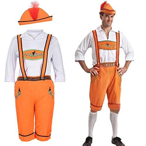 Simmia Halloween Kostüm,Halloween-Kostüme Deutsch Oktoberfest Kleidung Khaki Bier Anzug, Herrenmodelle, ()