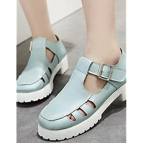 Da Wu Jia donne scarpe Scarpe Donna - Ballerine - Formale / Casual - Decolleté con cinturino - Basso - Finta pelle - Blu / Rosa / Bianco , white-us6.5-7 / eu37 / uk4.5-5 / cn37 , white-us6.5-7 / eu37 / uk4.5-5 / cn37