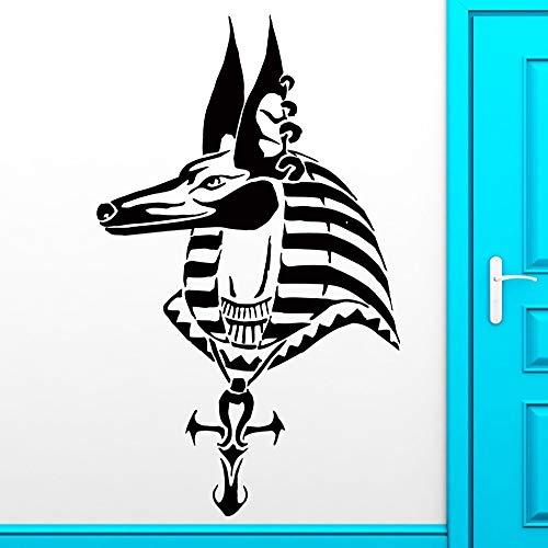 yaoxingfu Abnehmbare Mode Wandaufkleber Anubis Ägypten Gott Mythologie Pferd Aufkleber Für Schlafzimmer Wohnkultur Kunst Vinyl Aufkleber Papier weiß 30X57 cm