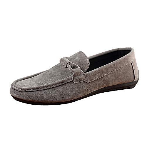 LuckyGirls Mode Nouveau Automne Hiver Chaussures en Toile Bottes Homme Chaussures de Montagne Suede Beanie Shoes Chaussures pour Hommes Paresseux Conduite Chaussures Simples