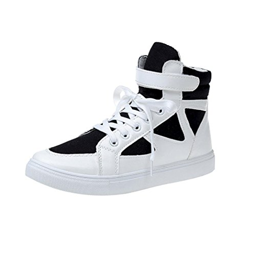 FEITONG Damen Laufschuhe Schnür Sneaker Sport Fitness Turnschuhe Dicke Sohle Casual Schnürung Schuhe (EU:37, Schwarz) (Casual Schuh-komfort Arbeiten Kleid)