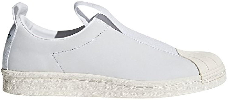 Adidas Original Superstar BW Slip-on Nobuk Negro y Blanco CQ2517 y CQ2518 Zapatillas de Moda para Mujer