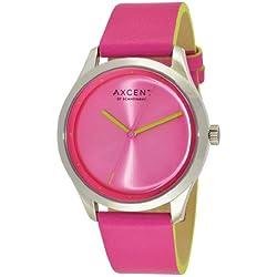 Axcent of Scandinavia-ix10854-050-Breeze Damen-Armbanduhr-Quarz Analog-Zifferblatt Rosa Armband Leder rosa