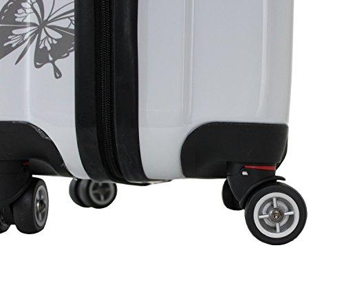 """Juego de maletas cabina y media Alistair """"Butterfly"""" ABS Ultra ligeras con 4 ruedas"""