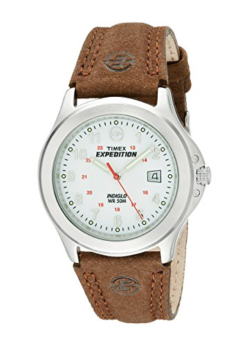 Expedition Herren-Armbanduhr Analog Leder braun T44381D7