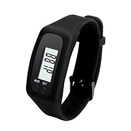 Leuchtmittel Charme (Vovotrade Digital LCD Pedometer lassen Schritt Fuß erreichbar Kalorienzähler Uhr Armband(Schwarz))