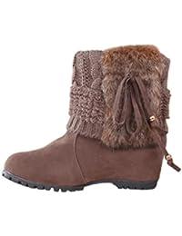 7693882afba Botines Planos/Tacon de Cuña para Mujer Zapatos Plataforma por ESAILQ L