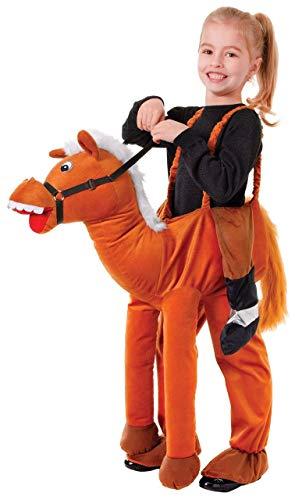 Fancy Me Jungen Mädchen Schritt darauf Reiten Tier Büchertag Halloween Kostüm Kleid Outfit - Pferd, One Size, One Size - Aufgeblasen Mädchen