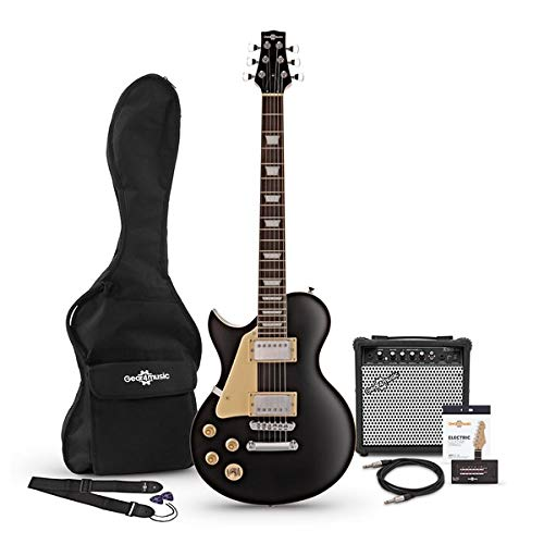 Paquete de Guitarra Electrica New Jersey para Zurdos Black