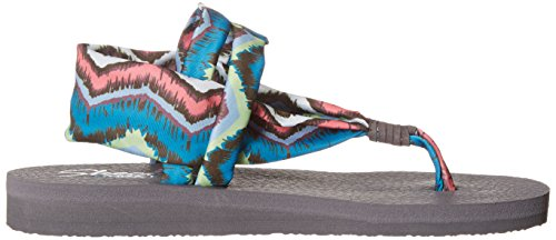 Skechers Meditation Studio Kicks, Sandales ouvertes femme Gray/Multi