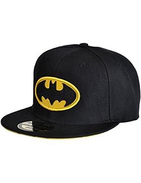Batman - Classic Logo Snapback Cap Gorra - Negra