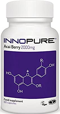 Acai Berry Extract 100% Pure | High Strength 4,000mg / Daily Dose | 1 Month Supply | Innopure® from Innopure