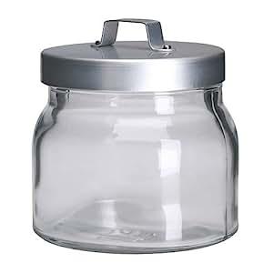 ikea burken bocal avec couvercle verre clair aluminium 0 5 l cuisine maison. Black Bedroom Furniture Sets. Home Design Ideas