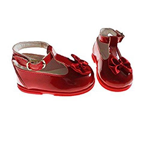 Baby Patent first walker Knöchelriemchen t-Stange mit passendem satin-Schleife rojo - rojo h7whBTUc