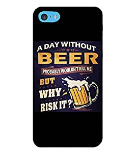 HiFi Designer Phone Back Case Cover Apple iPhone 6s Plus :: Apple iPhone 6s+ ( Beer Quotes A Day with Beer Will Kill Me )