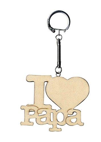 Artemio 14001715in legno portachiavi i love papa