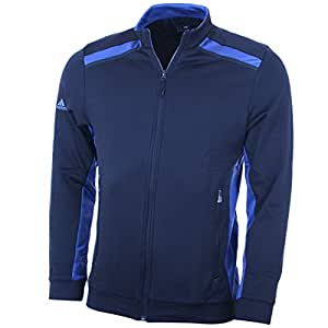 2015 Adidas Mens Climawarm+ 3 Stripes Colour Pop Full Zip Golf Jacket Rich Blue/Bright Royal Small