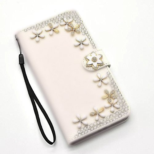 Per iPhone 8 plus / iphone 7 plus Donna Cover Pelle Stampata Wallet Premium PU e Bling Glitter Brillanti -Vandot Custodia Morbido Case Libro Leather, Magnetico Flip Protettiva Portafoglio, ID Slot per Strass 5