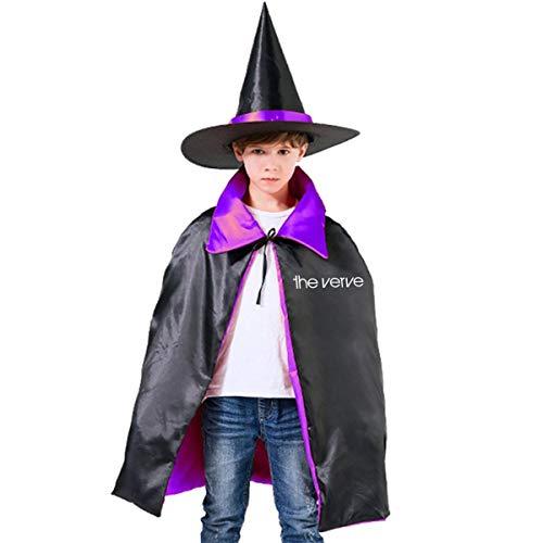 NUJSHF The Verve Top Logo Brit Pop Rock Richard Ashcroft Forth Unisex Kinder Kapuzenumhang Cape Halloween Party Dekoration Rolle Cosplay Kostüm Outwear