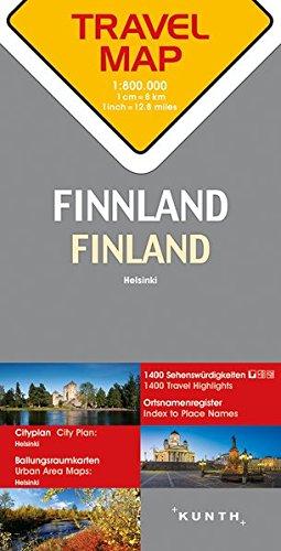 Reisekarte Finnland 1:800.000: Travel Map Finland