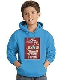 Cross the ocean Los niños Hoodie ligero Lightweight Hoodie For Kids | 80% Cotton-20%Polyester|