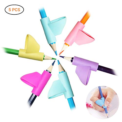 Neborn Pencil Grip Claw, 5 confezioni di pencil grip per imparare a scrivere Claw Correction Finger Grip per bambini studenti bambini adulti studenti