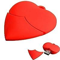 USB Flash Drives 2.0, KolylongŽ Love Heart USB 2.0 Metal Flash Memory Stick Storage Thumb U Disk (1GB/2GB/4GB/16GB/32GB) (16GB)