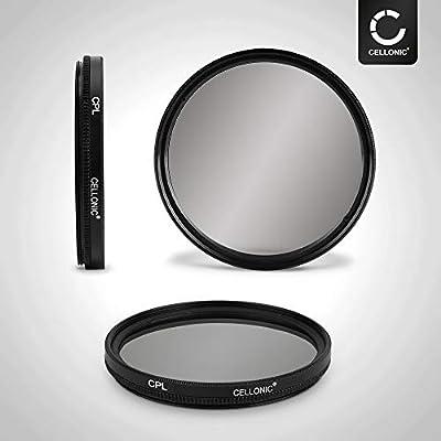 CELLONIC Polarizing filter CPL compatible with Canon 100 Canon EF-M 18-55 Canon EF-S 55-250 Canon MP-E 58mm Circular Polarization filter
