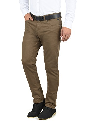 BLEND Saturn Herren Chino Hose Stoffhose Aus Stretch-Material Slim Fit, Größe:W33/32, Farbe:Mocca Brown (71508)