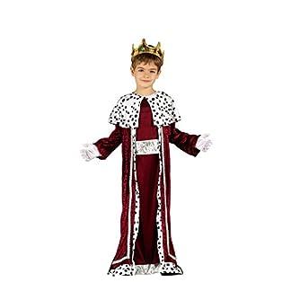 GUIRMA 42426 – Disfraz Infantil de Rey Magio, Color Rojo y Blanco, 5-6 años