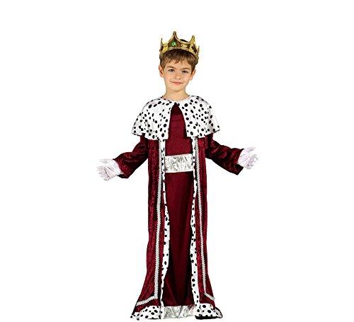 Guirma Gaspare Costume Bambino Re Magio, Colore Rosso e Bianco, 5-6 Anni 42426