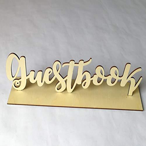 Rustikale Holz-tabellen (Heaviesk Tabelle Ornament aus Holz Hochzeit Gästebuch Zeichen Dekor aus Holz rustikale Kunden Zeichen Buch für Party Foto Requisiten)
