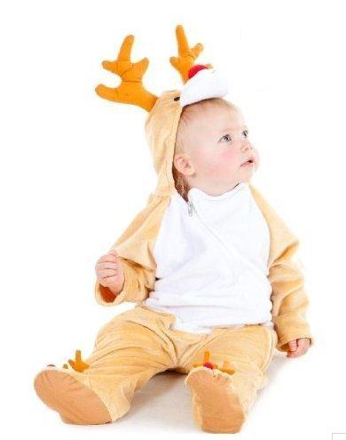 Baby Rudolph Rentier Weihnachten Kostüm 6-12 (Kostüm Baby Rentier)
