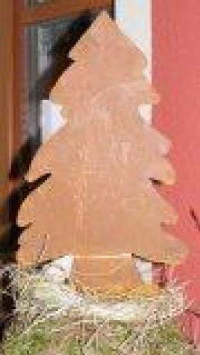 Rostikal | Edelrost Tannenbaum, rostige Weihnachtsdeko, Weihnachtsbaum aus Metall | 39 cm hoch