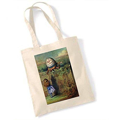 Alice au pays des merveilles tirelire Humpty Dumpty Colorful Vintage Illustration Totebag