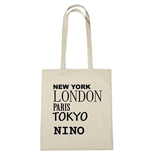 JOllify Nino di cotone felpato b5825 schwarz: New York, London, Paris, Tokyo natur: New York, London, Paris, Tokyo