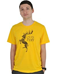 Game of Thrones, Haus Baratheon Wappen T-Shirt, großes Frontmotiv gelb