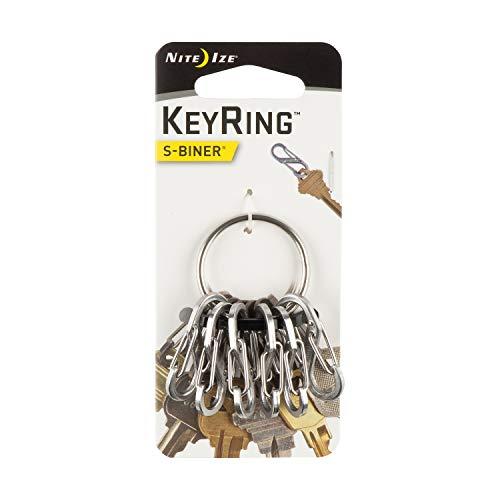Porte-clés avec 6 mousquetons S-Binner Argent Nite IZE