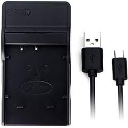 NP-50 USB Chargeur pour Fujifilm FinePix F200EXR, F300EXR, F500EXR, F550EXR, F660EXR, F750EXR, F770EXR, F800EXR, F80EXR, F850EXR, F900EXR, X10, X20, XP100, XP150, XP170, XP200 Caméra Batterie et Plus