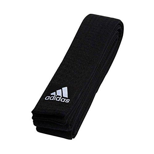 Cintura adidas competition nera giro singolo in cotone 100% 220 cm