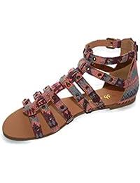 Chocolate Schubar - Sandalias de vestir para mujer ETHNIC CORAL