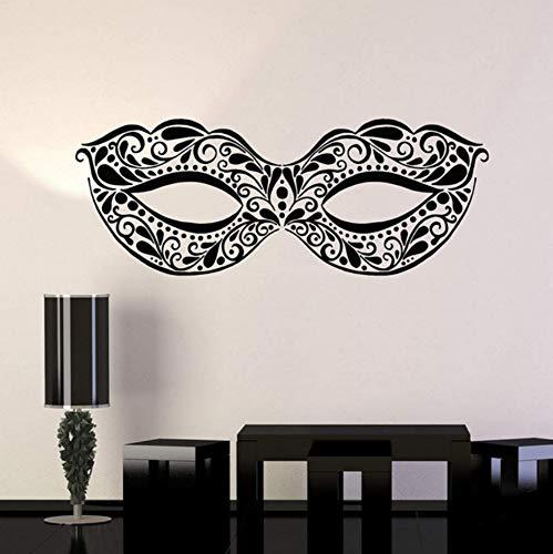 Maskerade Maske Ball Tanzparty Festival Vinyl Wandtattoo Home Decor Living rom kunst wandbild wandaufkleber 58x22 cm
