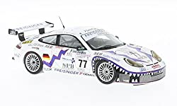 Porsche 911 (996) GT3 RS, No.77, Freisinger Motorsport, 24h Le Mans, 2001, Modellauto, Fertigmodell, Spark 1:43