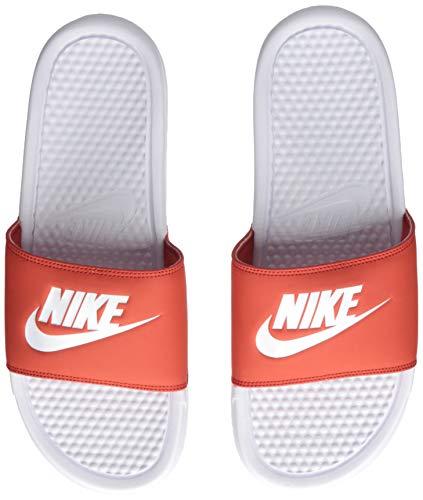 Nike benassi jdi, scarpe da ginnastica basse uomo, multicolore white/mystic red 106, 41 eu