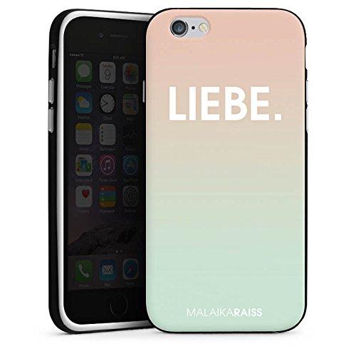 Apple iPhone 4 Housse Étui Silicone Coque Protection Amour Amour Phrases Housse en silicone noir / blanc