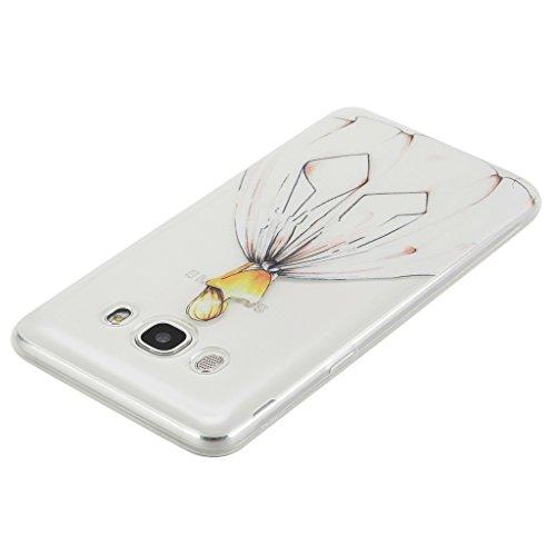 Qimmortal(TM) Custodia protettiva ultra sottile in silicone TPU morbido e flessibile di alta qualità, per Huawei P9, protezione per lo schermo in vetro temperato, con design stampato alla moda, silico Shadow