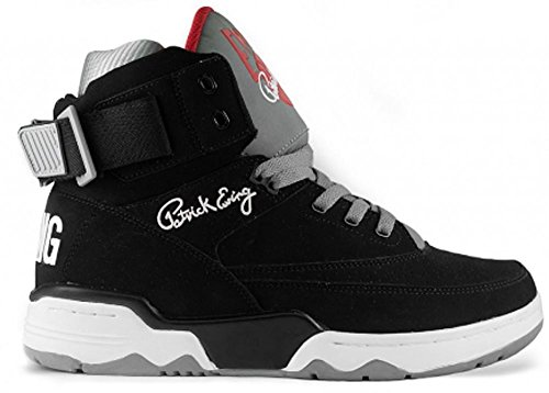 EWING Athletics 33 Hi Black Grey Red Basketball Shoes Limited Edition (Basketball Edition Schuhe Herren)